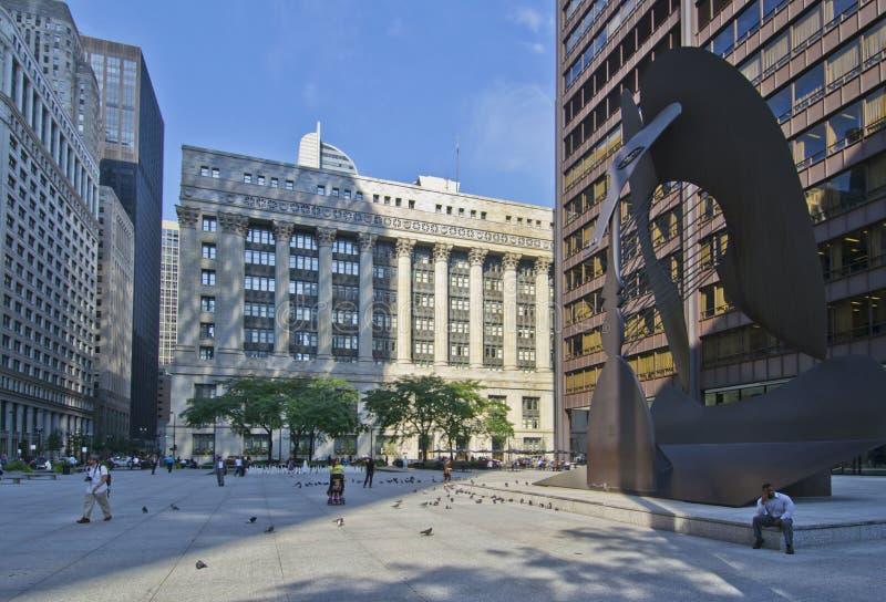 Daley plac w Chicago obrazy stock