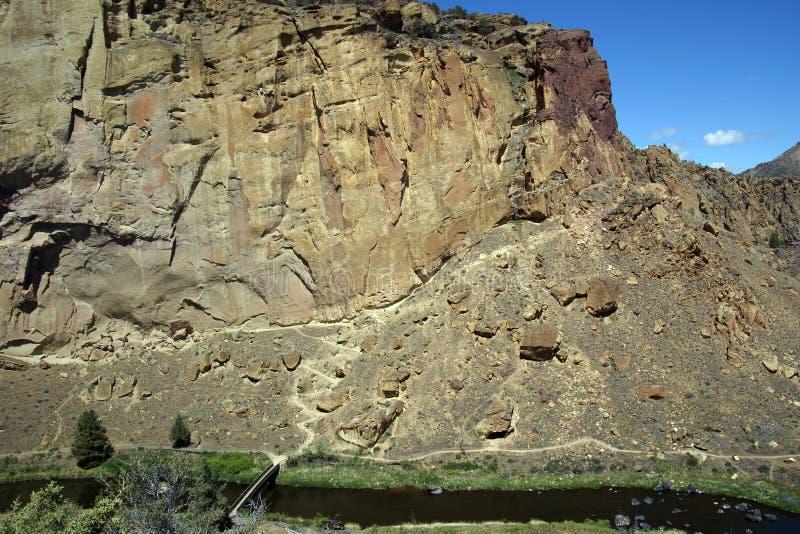 Dalgolv av den krokiga floden arkivfoto