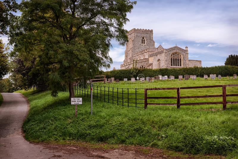 A Beautiful Church in the English Countryside stock photos