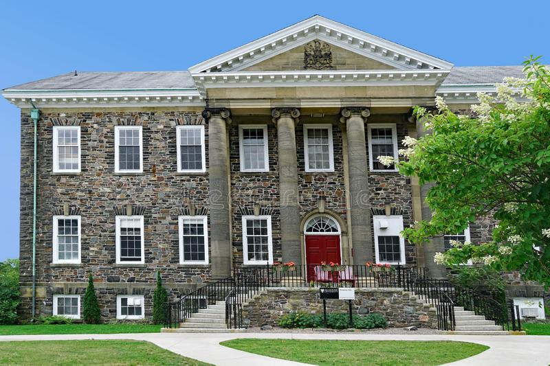 Dalhousie University. HALIFAX, CANADA - Dalhousie University, with old stone buildings on a hilltop, is one of Canada`s oldest and most prestigious universities royalty free stock images