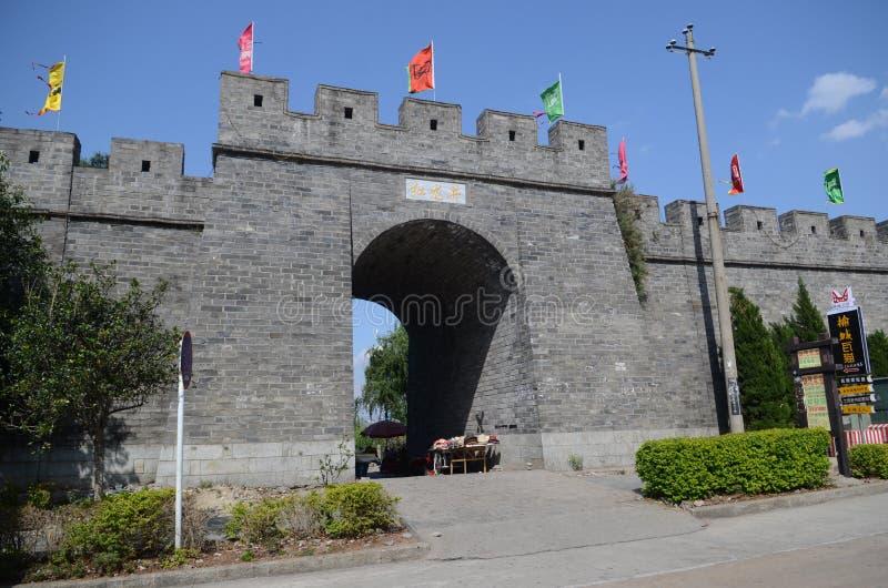 Dali ancient city gate tower stock photos