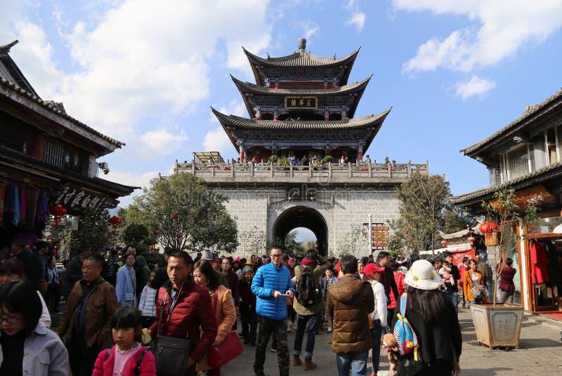 Dali,China Yunnan. Old city tower of Dali,China Yunnan stock images