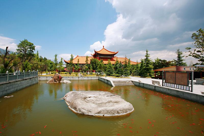 Dali Chongsheng Temple royaltyfria bilder