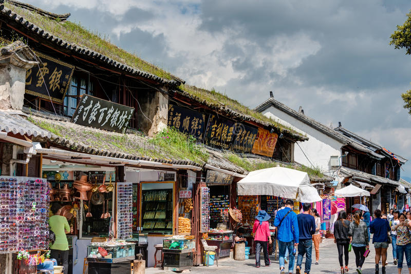 DALI, CINA - 31 agosto 2014: Dali Old Town un punto di riferimento famoso nella t immagine stock