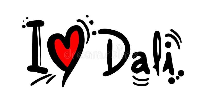 Dali city of China love message. Creative design of Dali city of China love message stock illustration