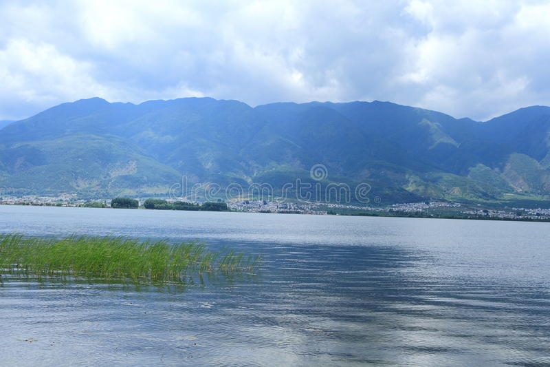 Dali Erhai Lake arkivbild