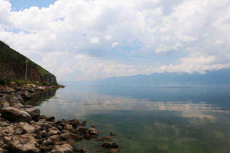 Dali Erhai landskap i Yunnan, Kina fotografering för bildbyråer