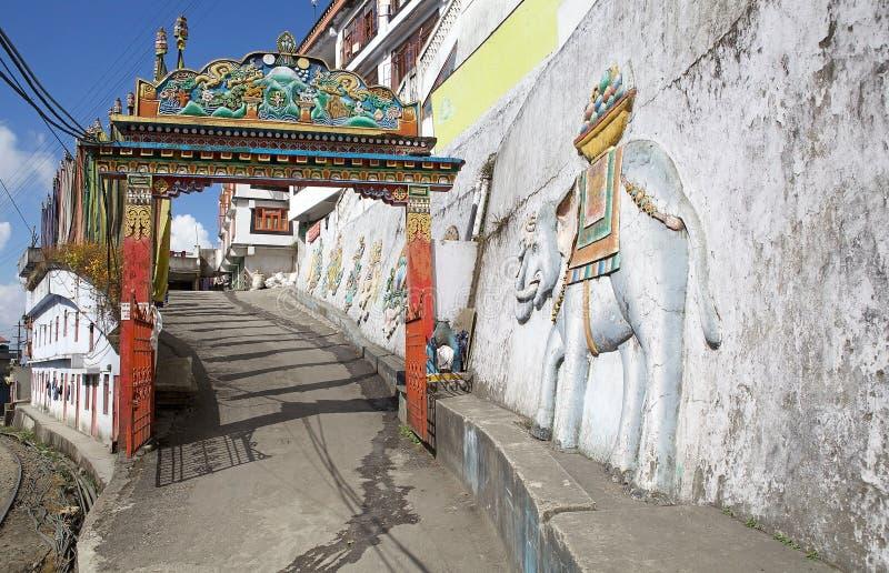 Dali Monastery Darjeeling, Indien fotografering för bildbyråer