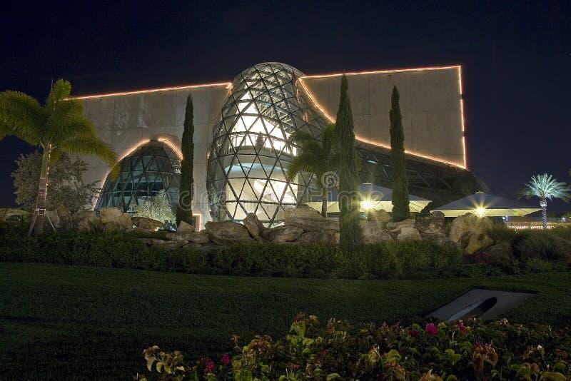 Dali Museum at Night. Dali Museum in St. Petersburg, FL, at night royalty free stock photos
