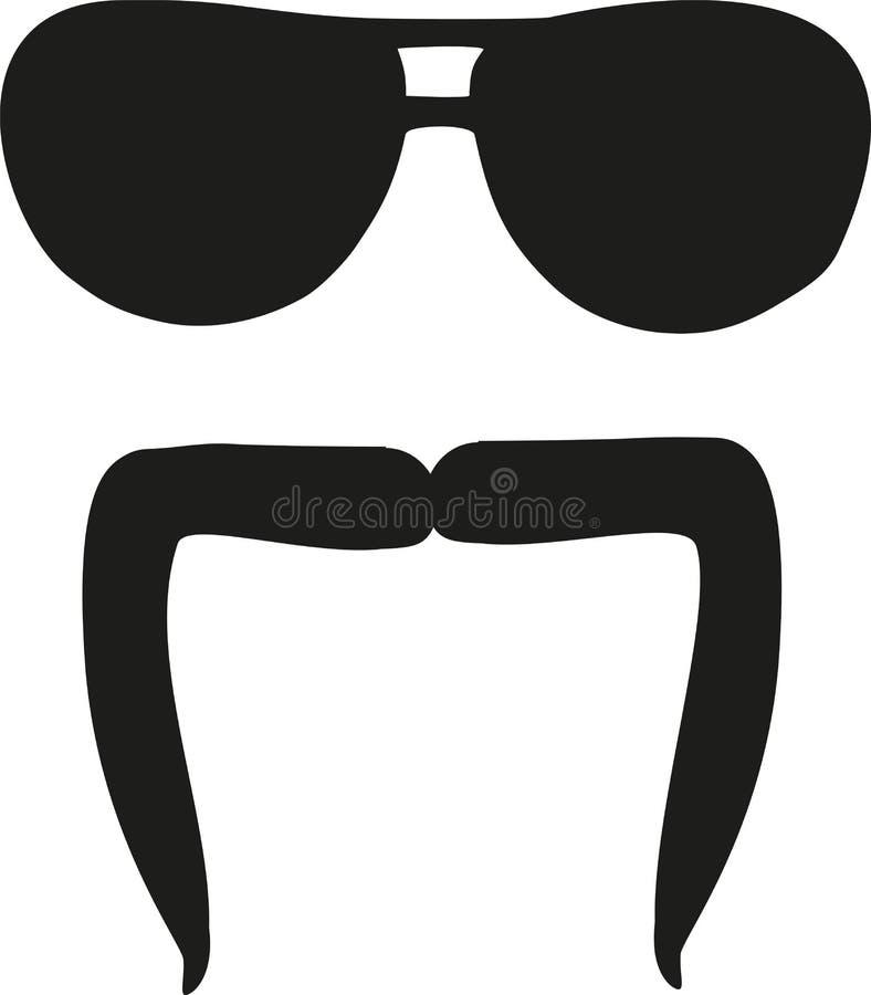 Dali mustache with sunglasses. Vector vector illustration