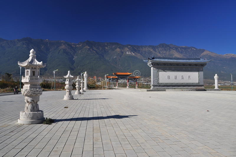 Dali, provincia di Yunnan, Cina. Tempio di Chongsheng fotografia stock