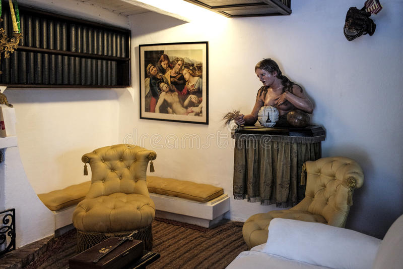 Dali Residence Cadaques Spanien arkivbilder