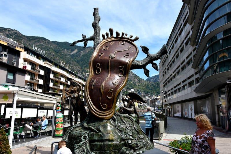 Dali skulptur i Andorra royaltyfria foton