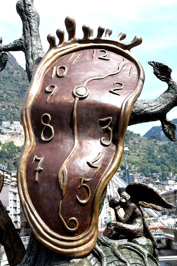 Dali skulptur i Andorra arkivfoto
