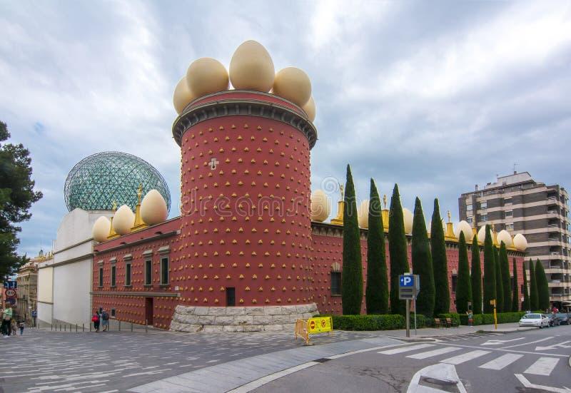 Dali Theatre e museo a Figueres, Spagna immagini stock libere da diritti