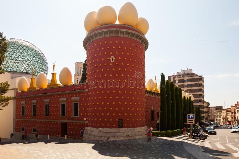 Dali Theatre en Museum in Junly 7, 2013 in Figueres, Cataloni royalty-vrije stock afbeelding