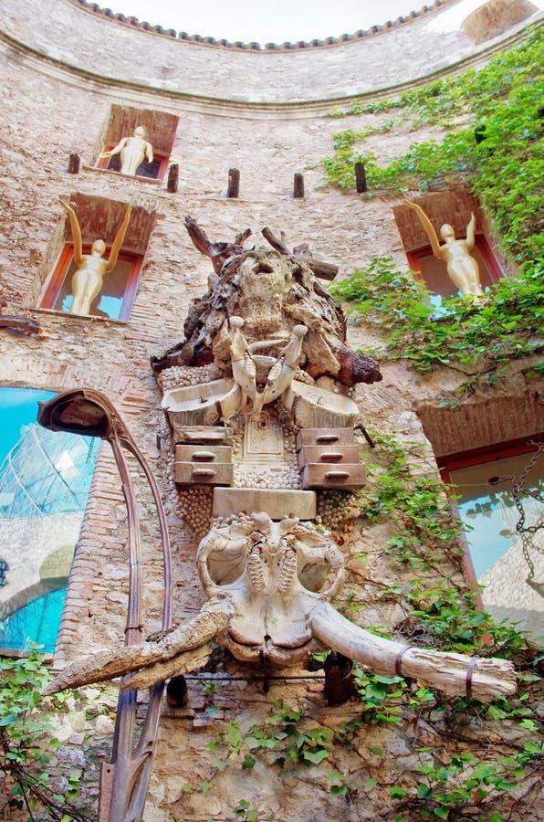 Dali Theatre och museum i Figueres, Catalunia, Spanien fotografering för bildbyråer