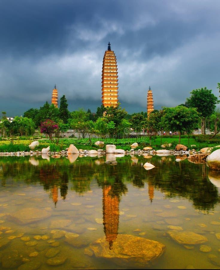 Dali Three Pagodas stock photos
