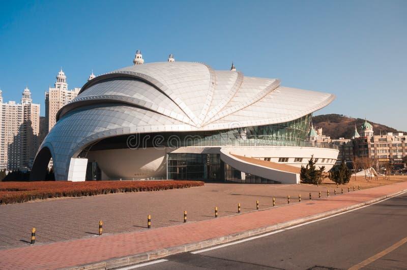 Dalian Shell Museum no quadrado de Xinghai imagem de stock royalty free