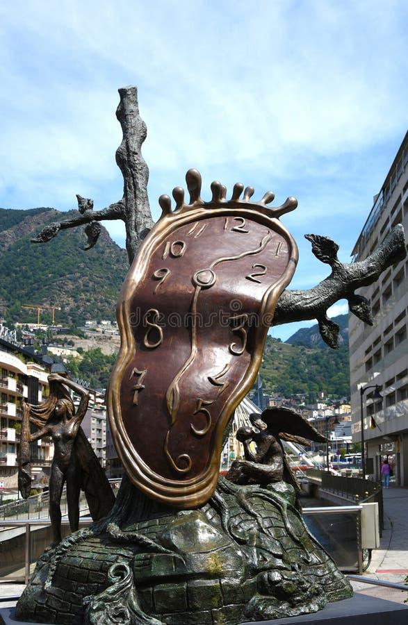Dalibeeldhouwwerk in Andorra royalty-vrije stock afbeelding
