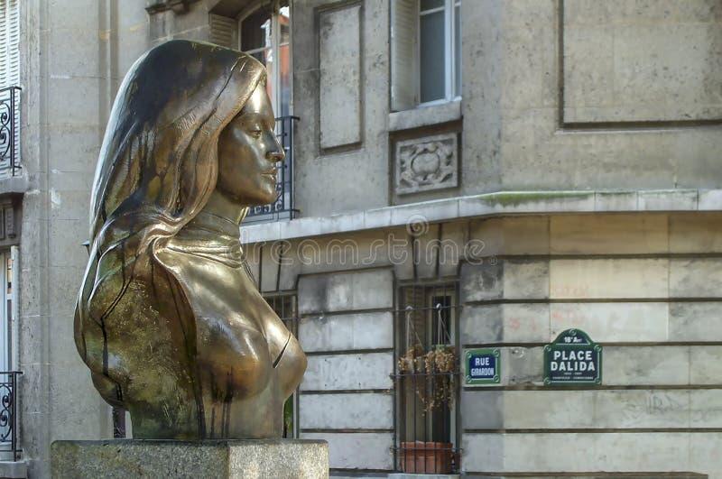 Dalida piosenkarza Francuski popiersie zdjęcie stock