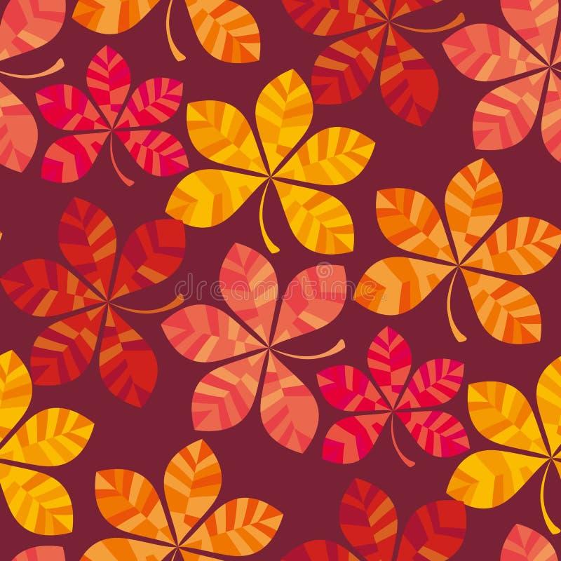 Daling gekleurde behang vectorillustratie verpakkend document motief naadloos patroon royalty-vrije illustratie