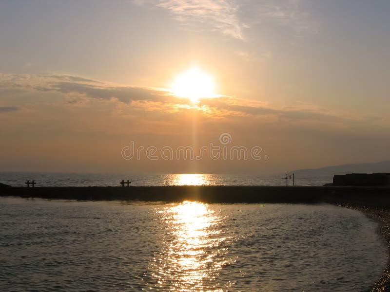 Daling op de bank van de Zwarte Zee stock afbeeldingen