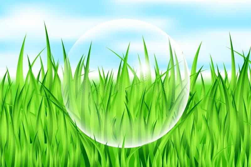 Daling op gras vector illustratie