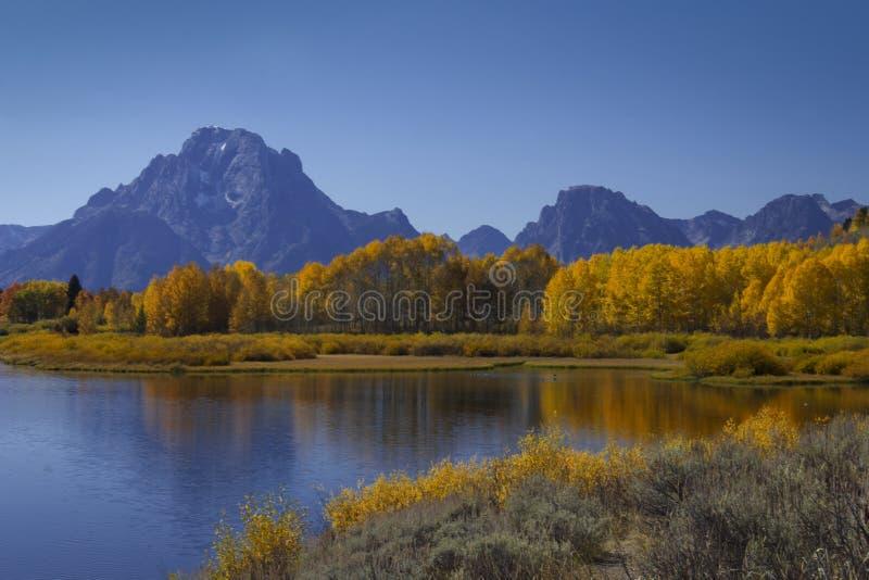 Daling op vertoning in Grote Tetons royalty-vrije stock foto