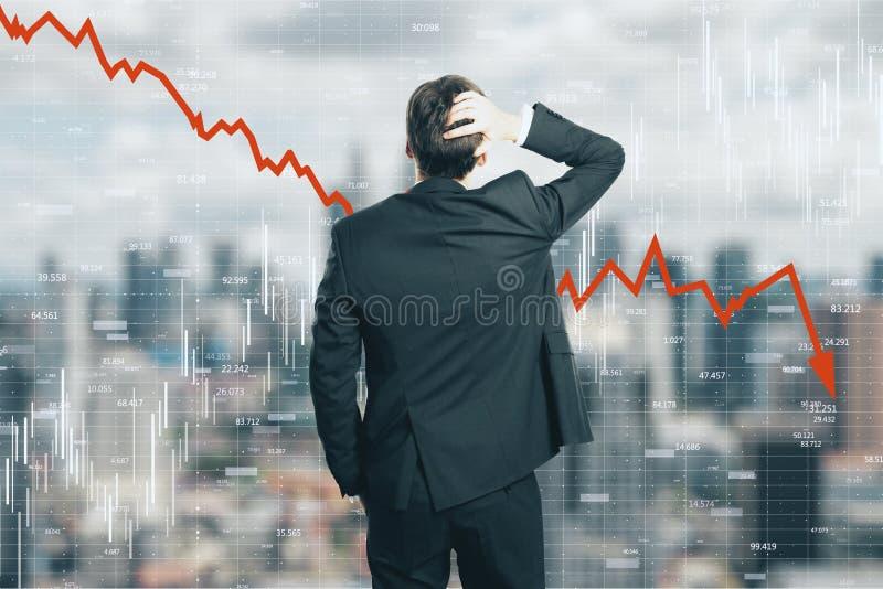 Daling, stats en economieconcept royalty-vrije stock foto's