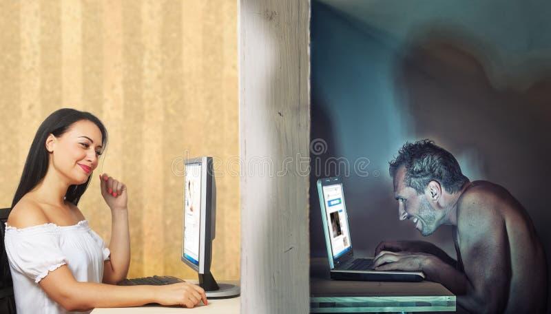 Daling van liefde online stock foto