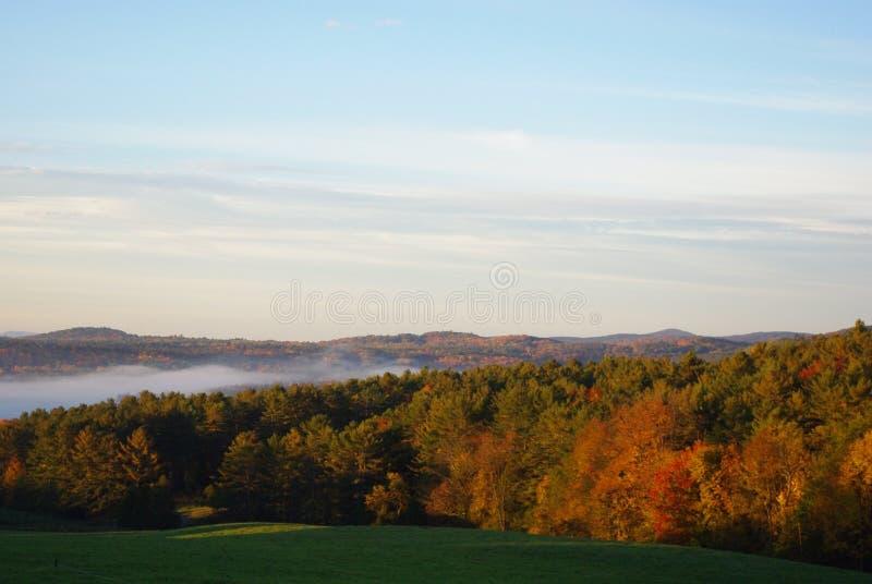Daling van Vermont stock foto