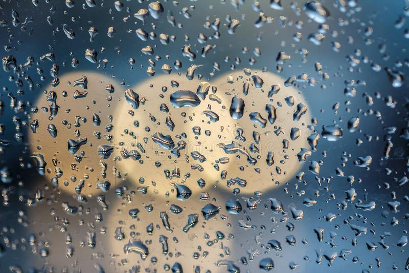 Dalingen op glas bokeh royalty-vrije stock foto's