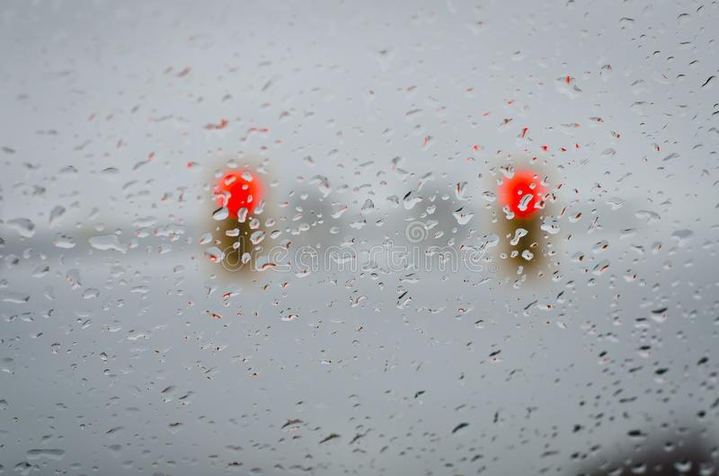 Dalingen van de einde de Lichte Regen stock foto