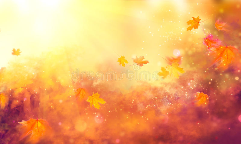 Dalingsachtergrond De kleurrijke bladeren van de herfst royalty-vrije stock afbeeldingen