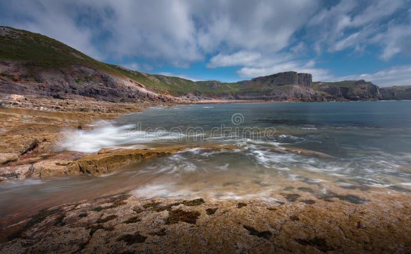 Dalingsbaai Gower Swansea stock fotografie