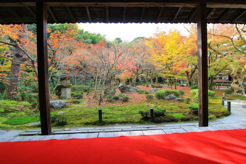 Dalingsgebladerte bij Enkoji-Tempel, Kyoto, Japan royalty-vrije stock afbeelding