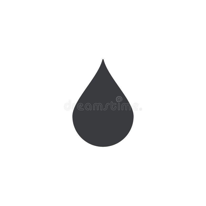 Dalingspictogram Vectordruppeltjevorm Element voor ontwerpembleem Vlekmalplaatje stock illustratie