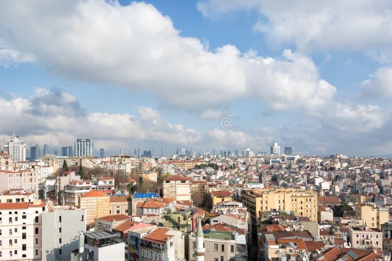 dall'alto la città di Istanbul immagine stock