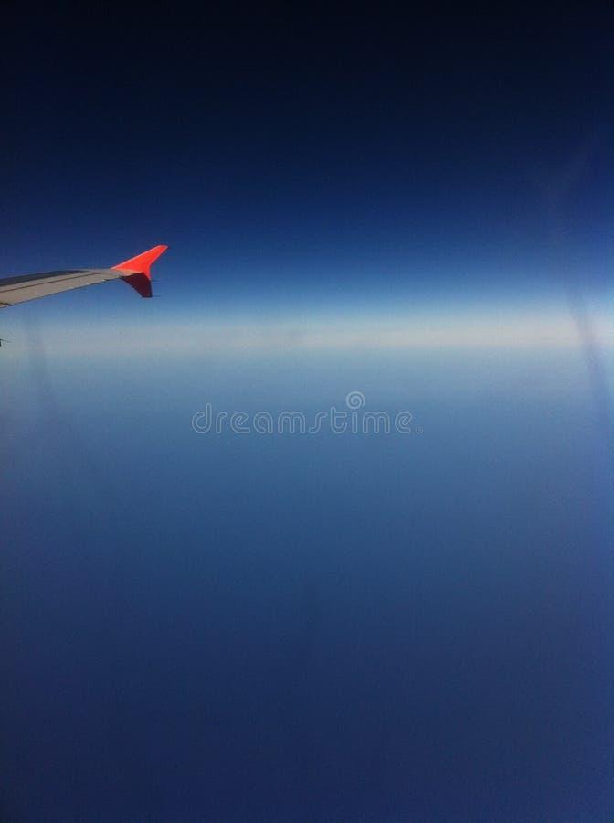 Dalla finestra dell'aeroplano fotografia stock libera da diritti