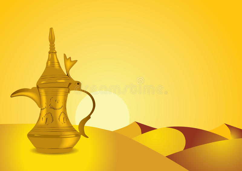 Dallah - The Traditional Arabic Coffee Pot Royalty Free Stock Photography