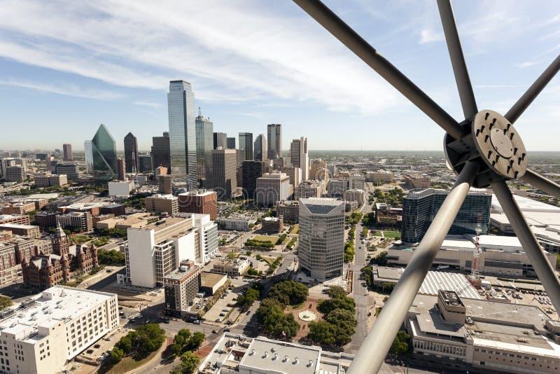 Dallas śródmieścia linia horyzontu obraz stock