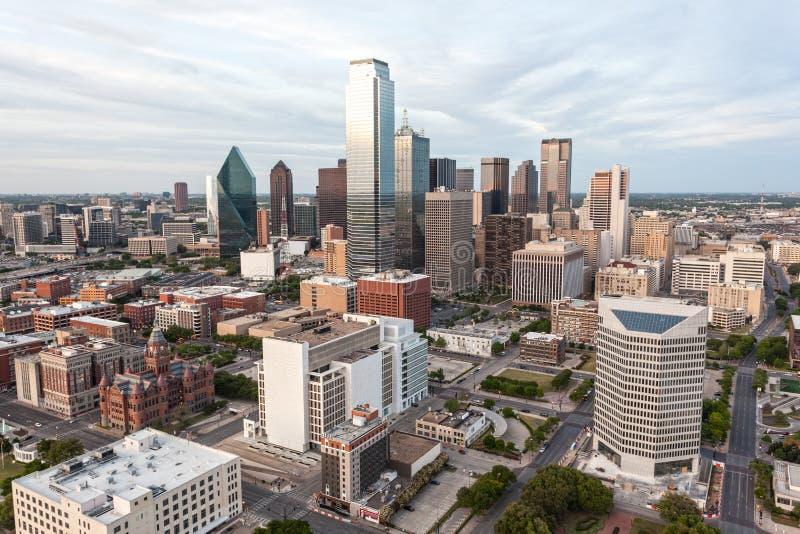 Dallas śródmieścia linia horyzontu fotografia stock