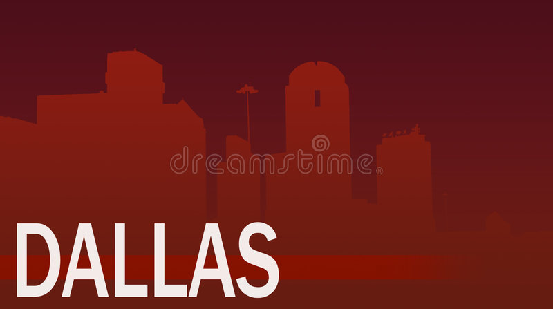 Dallas vector illustration