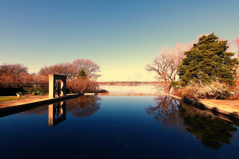 Dallas Arboretum en Botanische Tuinen royalty-vrije stock afbeelding