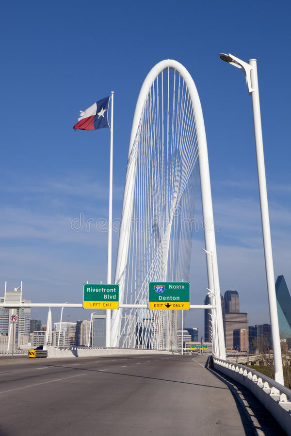 Dallas Bridge lizenzfreies stockfoto