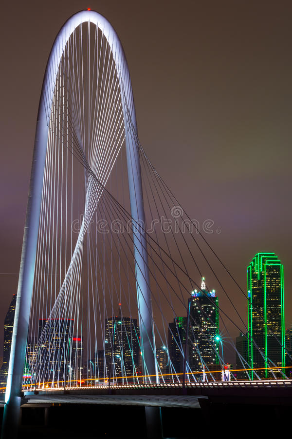 Dallas_Bridge_portrait stock photos