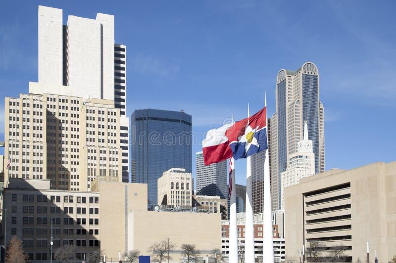 Dallas céntrica hermosa TX imágenes de archivo libres de regalías