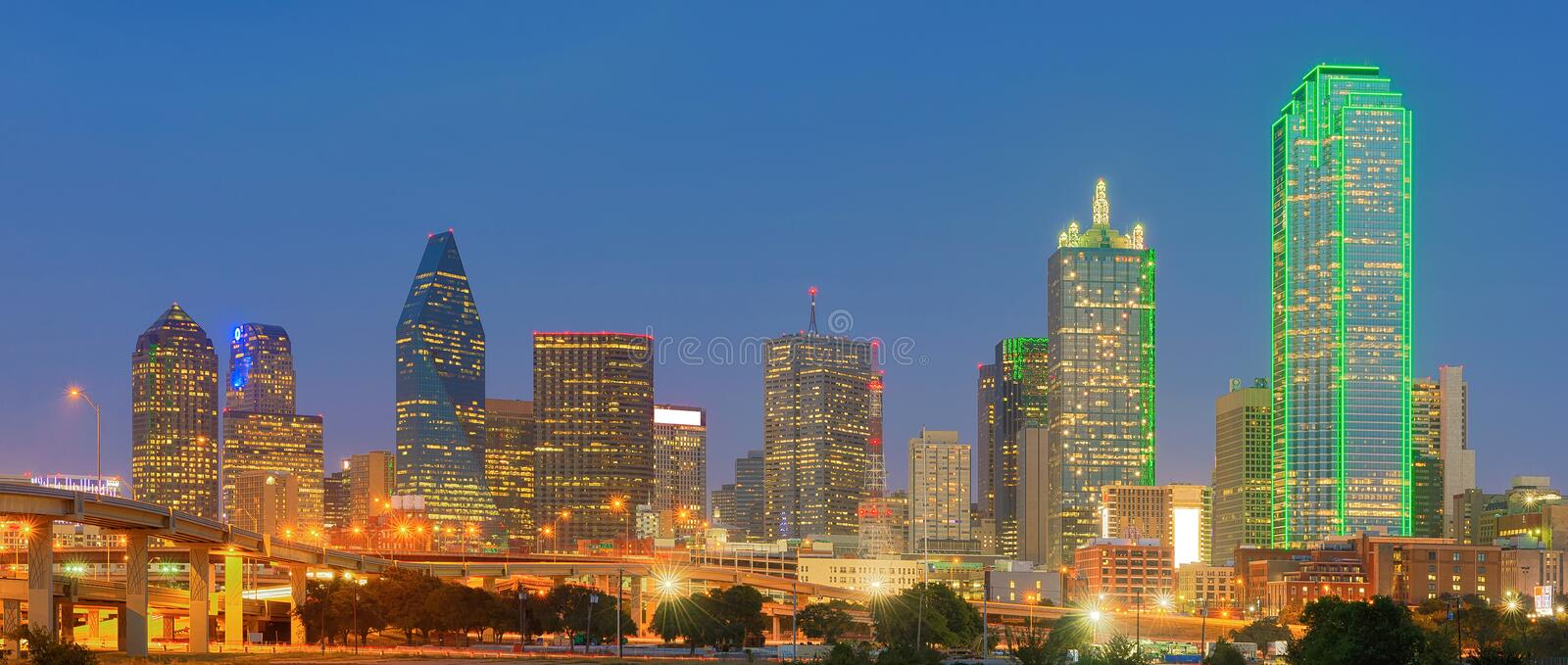 Dallas City du centre, le Texas, Etats-Unis photographie stock