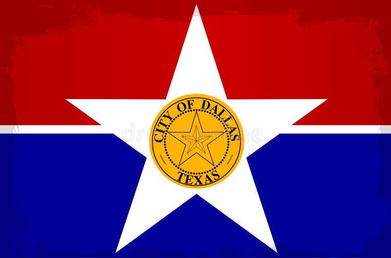 Dallas City Flag vector illustratie